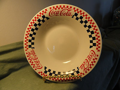 COCA COLA Checkered Dinnerware Dishes Gibson 1996   Soup/Salad Bowls