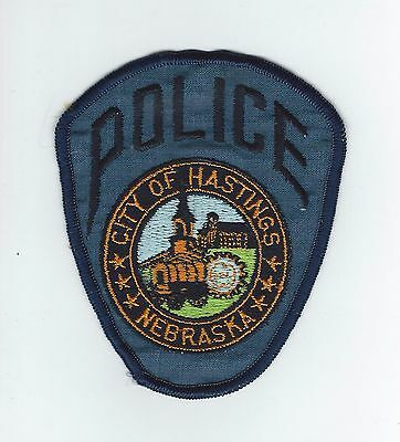 VINTAGE HASTINGS, NEBRASKA POLICE (CHEESE CLOTH BACK) patch
