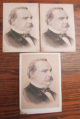 Lot of 3 President Grover Cleveland Victorian trading card portraits