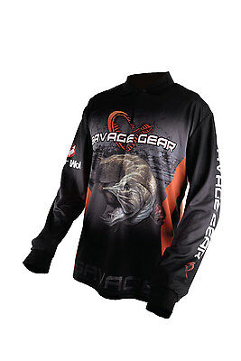 Savage Gear Tournament Shirt Jersey Pike Zander Perch Black Gr. XL
