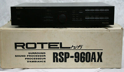 Rotel RSP-960AX Dolby ProLogic Surround Preamplifier Processor