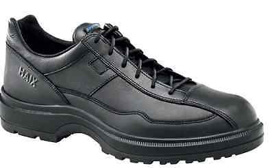 HAIX Airpower C7 US Black Leather Police service & leisure Shoes Size 6W -B.NEW