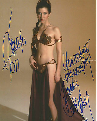 Carrie Fisher Signed 10X8 Photo STAR WARS AFTAL OnlineCOA