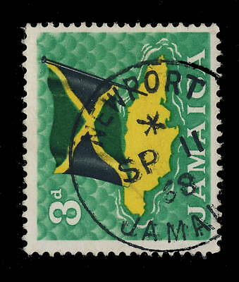 "Jamaica - 1968 - "" Newport / Jamaica "" Circle Date Stamp On Sg 221"