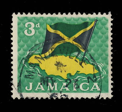 "Jamaica - 196(8) - "" Mandeville 2 / Jamaica "" Circle Date Stamp On Sg 221"