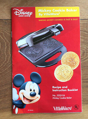 ~Villaware~Disney~Mickey Mouse Cookie Baker~New~
