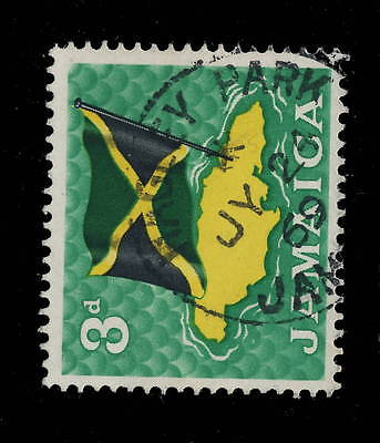 "Jamaica - 1969 - "" Hagley Park / Jamaica "" Circle Date Stamp On Sg 221"