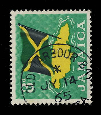 "Jamaica - 1965 - "" Old Harbour Bay / Jamaica "" Circle Date Stamp On Sg 221"