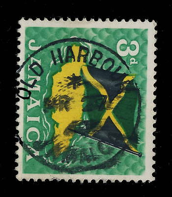 "Jamaica - 1969 - "" Old Harbour Bay / Jamaica "" Circle Date Stamp On Sg 221"