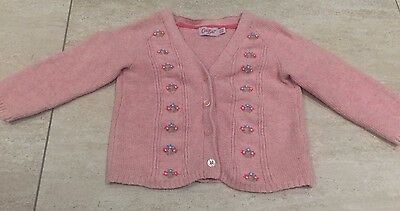 Baby Girl Cath Kidston Knitted Cardigan Size 12-18 Months