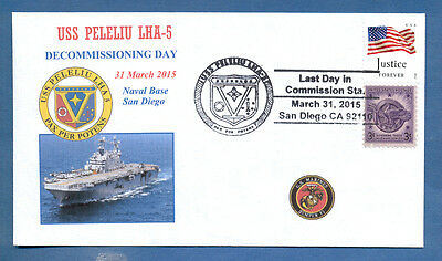 Greytcovers Naval Cover Uss Peleliu Lha-5 Decommissioining 31 Mar 2015