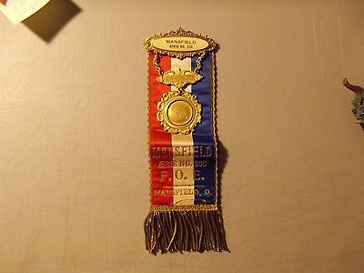 Vintage Faternal Order Of Eagles Pin And Ribbon Mansfield ,ohio Worthy Physician