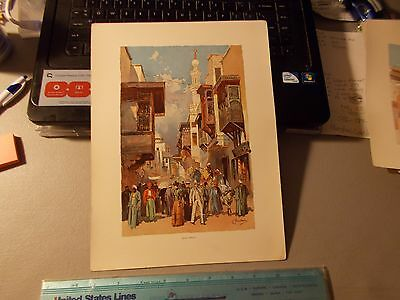 "The World's fair in Water Colors ""CAIRO STREET"" 1893 by C Graham"