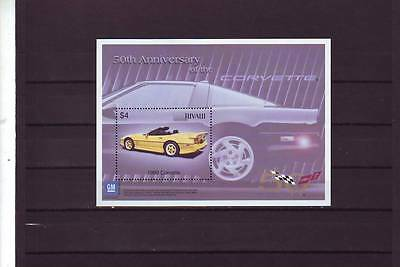 TUVALU - SGMS1105 MNH 2003 50th ANNIV OF GENERAL MOTORS - CORVETTE