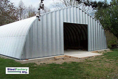 NEW Steel A30x50x16 Prefabricated Metal Arched Gambrel Barn Style Building Kit