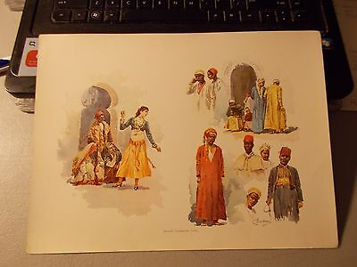 """The World's fair in Water Colors """"MIDWAY CHARACTER TYPES"""" 1893 by C Graham"""