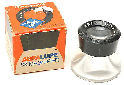 AGFA 8X LUPE 8-Power GERMANY  Magnifier Loupe