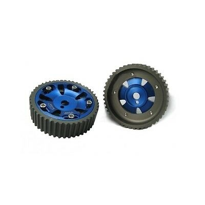 Pair of adjustable pulleys for MITSUBISHI CARISMA and LANCER 4 G 93