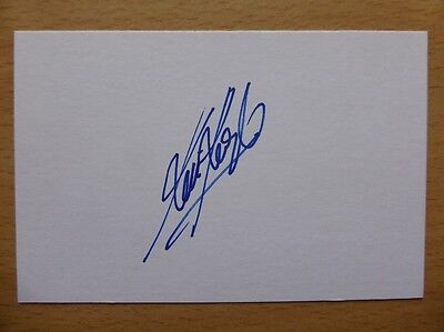 Hand Signed Football Index Cards *****K***** Page 1