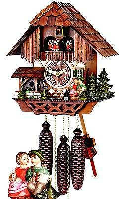 Hubert Herr,   lovely new  8 Day musical  cuckoo clock with a kissing couple.