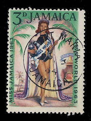 "Jamaica - 1964 "" Port Maria / Jamaica "" Single Circle Date Stamp On Sg 214"