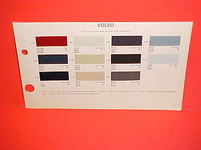 1966 1967 1968 Volvo 1800S Sport Coupe 122S 142S 144S Sedan Wagon Paint Chips