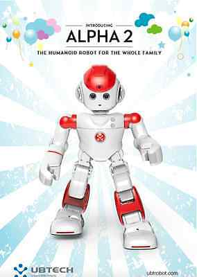 Ubtech Alpha 2 Robot 4.1 Intelligent Life Humanoid Robot For The Family Red