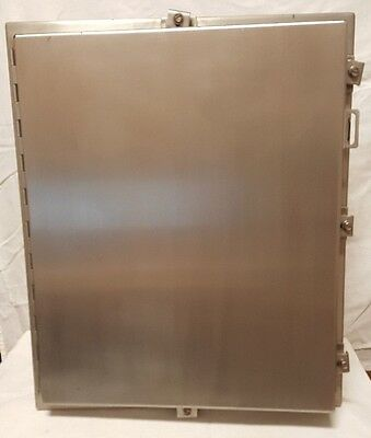 Stainless Steel Enclosure with Panel Insert, Hoffman A24H2008SSLP
