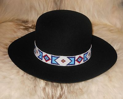 BILLY JACK MOVIE REPLICA HANDLOOMED BEADED HATBAND/AgnoulitaHats Tiller Hat