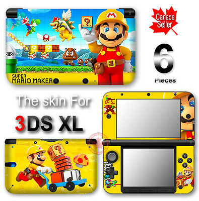 Super Mario Maker Special Edition Skin Sticker Decal Cover for Original 3DS XL