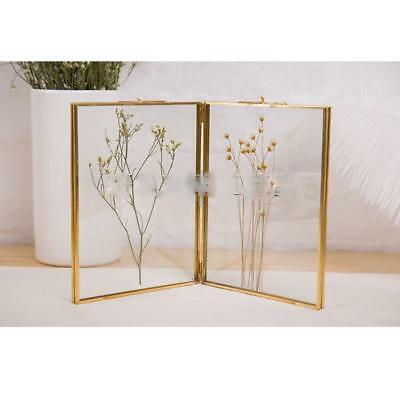 20 x 20cm Double Glass Metal Photo Picture Frame Vintage Chic Free Standing