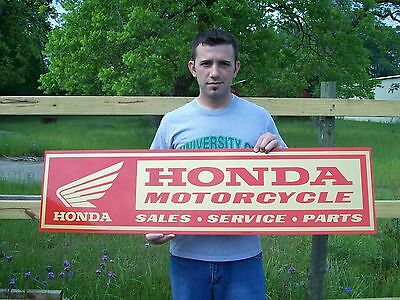 Vintage style Honda Motorcycle Sign 4ft.  BRAND NEW! metal, aluminum