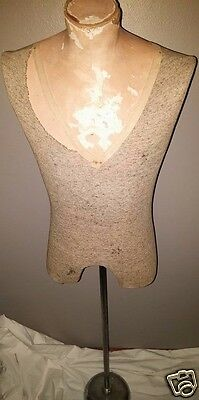 1900's French Wasp Waist Corset Counter Top Lingerie Mannequin Dress Form Bust