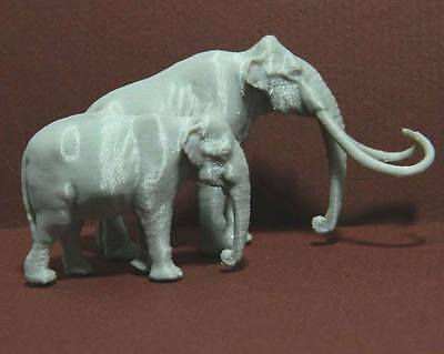 Columbian Mammoth Asian Elephant 1/72 scale 3D print Model Museum Quality! Rare!