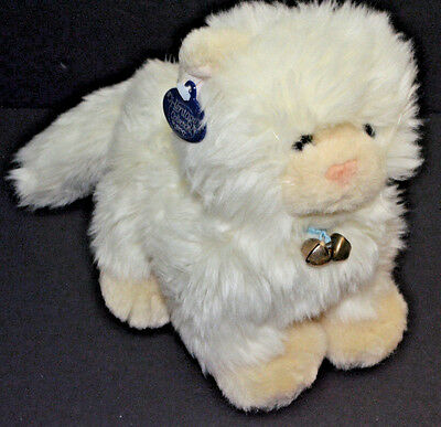 Ganz Heritage Colection Coconut Kitty Cat Plush Off White Bell #H3693 Stuffed