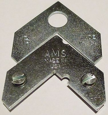 20 Tapped Corners with Screws, and Back Plates, Metal Frame Hardware, AMS Brand