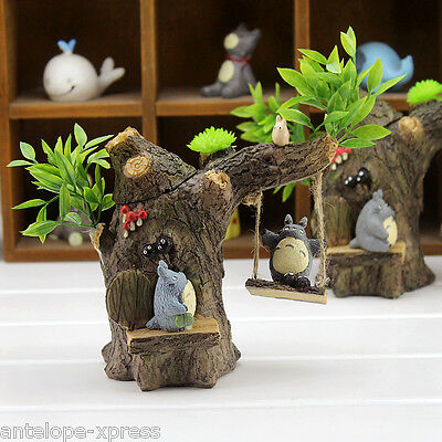 Anime My Neighbour Totoro Figure Tree Swing Penholder Pot Home Decor Collections