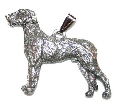 Irish Wolfhound Pendant Dog Harris Fine Pewter Made in USA jewelry