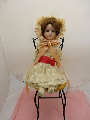 "14"" Bisque Head 1914 Ra Dep Recknagel Doll, Professional Outfit, Almost Mint"