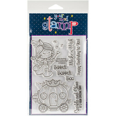 """Your Next Stamp Clear Stamps 4""""X6""""-Little Darling Fairy Godmother"""