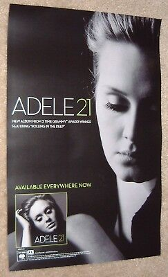 Adele poster - 21 - promotional  poster 11 x 17 inches - Adele poster