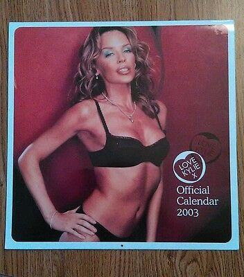 """Kylie Minogue """"Love Kylie"""" Official Calender 2003 12"""" x 12"""" SEXY!!"""