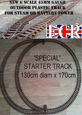G SCALE RAILWAY RAIL 45mm GAUGE OVAL OF TRACK ROLLING STOCK, COACH TRAIN SET
