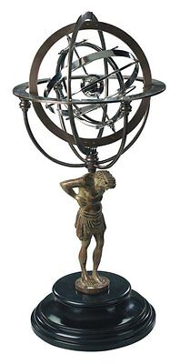 G339: Large Armillary Sphere with Atlas Figure, Baroque World machine,