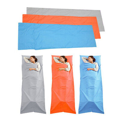 Pongee Sleeping Bag Liner Single Orange Gray Blue