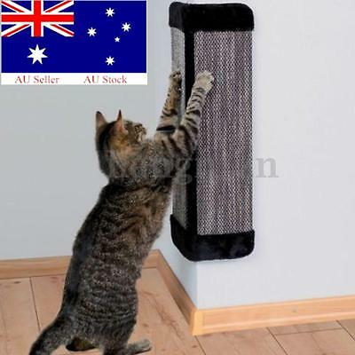 Pet Cat Kitten Corner Wall Hanging Scratching Board Post Toys Mat Scratcher