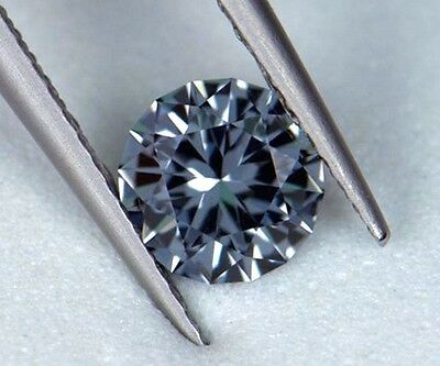 Grey Spinel - Natural - 5.50 mm - Precision Round Brilliant Cut