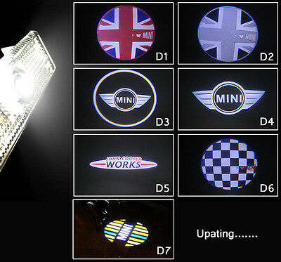 2 x LED Door Courtesy Laser Light for BMW MINI Cooper PACEMAN Countryman CLUBMAN