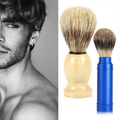 1pc Shaving Brush Facial Hair for Man Shave Tools Cosmetic Tool Wood Handle