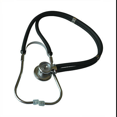 Adult High Quality Dual-Head Dual-barreled Stethoscope Superior Acoustic Black